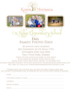 Family Photo Day sign-up form